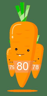 80 морковок